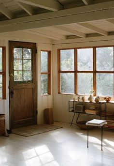 """You have to love the natural wood window frames. Via """"the art of slow living."""""""