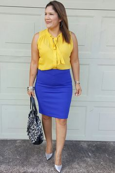 Elle skirt from @kohls  CristianSiriano pumps from @paylessshoesource