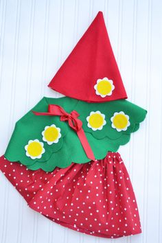 Girl Gnome Costume made to order 2 3 4 5 6 by StorybookStyles, $40.00
