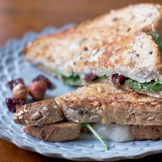 Cherry and Hazelnut Grilled Cheese