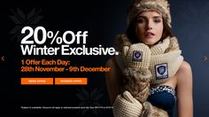 Superdry 20% off/1 offer a day web banner #Web #Banner #Digital #Online #Marketing #Offer #Discount #Fashion