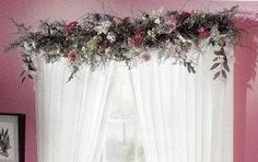 Flower Swags Over Windows | These are just a few ideas for adding a customized look to your décor ...