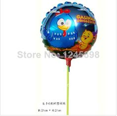 wholesale Galinha pintadinha foil balloon with stick small round baby balloons for birthday party 20pcs/lot  8.5inch-in Balloons from Toys &...