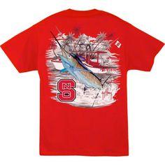 62b9bf4219433 Guy Harvey Men s NC State Wolfpack Red Collegiate Boat T-Shirt