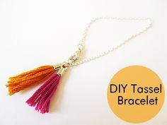 Thanks, I Made It: DIY Tassel Charm Bracelet