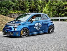 Who else agrees this is a stunning blue? #Abarth