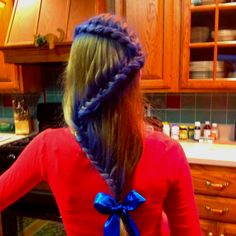 My daughter Skyler's hair. I did this for a crazy hair day at school.