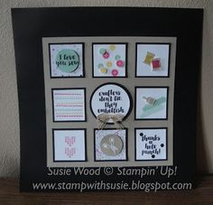 Stampin' Up!- A cool 12x12 sampler using the hostess set- 'Love You Sew'!