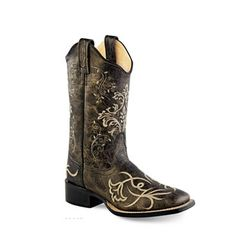 Old West® Women's Broad Square Toe Boots - Vintage Charcoal