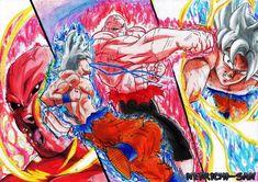 Dbz, Adashino Benio, Goku Vs Jiren, Z Warriors, Dragon Ball Gt, Ghost Rider, Godzilla, Pencil Drawings, Manga Anime