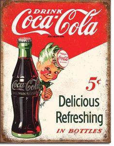 New Coca Cola Coke Sprite Boy 5 Cents x Nostalgic Weathered Antique Look Advertising Tin Sign Propaganda Coca Cola, Coca Cola Poster, Coca Cola Drink, Coca Cola Ad, Always Coca Cola, World Of Coca Cola, Coca Cola Bottles, Soda Bottles, Vintage Advertisements