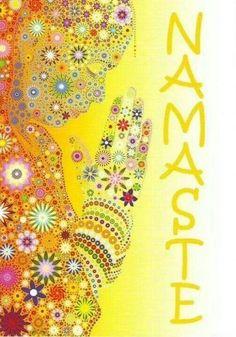 """Namastê é o cumprimento em sânscrito que literalmente significa """"curvo-me perante a ti"""", e é a forma mais digna de cumprimento de um ser humano para outro. O gesto expressa um grande sentimento de respeito, invoca a percepção de que todos indivíduos compartilham da mesma essência, da mesma energia, do mesmo universo, portanto o termo e a ação possuem uma força pacificadora muito intensa"""