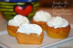 pumpkin cupcakes whipped cream