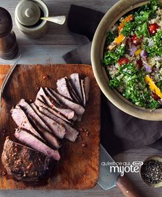 Looking for a smart twist on steak salad? Our Tuscan Grilled Steak with Kale, Quinoa and Peppers recipe is a real winner! Barbecue Recipes, Beef Recipes, Salad Recipes, Bbq, Savoury Recipes, Easy Recipes, Grilled Peppers And Onions, Stuffed Peppers, How To Cook Steak