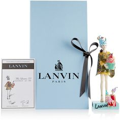 Lanvin Miss Lanvin 52 porcelain figurine ($525) ❤ liked on Polyvore featuring home, home decor, blue home decor, porcelain figurine, doll figurines, colorful home decor and lanvin