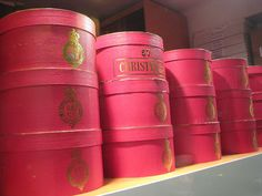 Vintage Hat Boxes by etselecsg, via Flickr