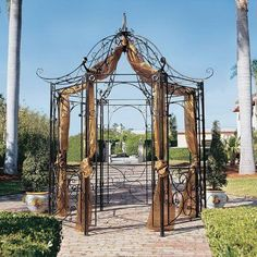 Design Toscano The Amelie Architectural Steel Garden Gazebo - FZ397, Durable