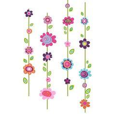 Muurstickers Bloemen XXL van het merk Roommates hier online kopen. Leuke muurstickers met grote bloemen voor kinderkamer of babykamer.