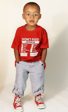 Don't Feed T's for children who have allergies. 12m to 4T in gray, red, blue, pink, orange. Keep babies/toddlers safe. For more information, please email dontfeedshirts@gmail.com
