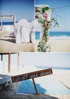 Magnolia Rouge: Mexican beach wedding by Fiona Andersen