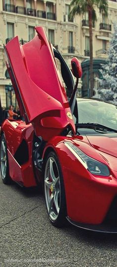Ferrari - If I was like a billionaire I would buy 2 Ferraris or something and then do a car 'highfive' with the car doors