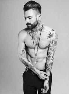 hair, tattoo's and BEARD