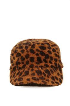 Hat Attack Angora Baseball Cap - Leopard