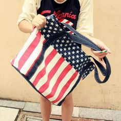 Wholesale Fashion Striped and Canvas Design Women's Shoulder Bag Only $3.51 Drop Shipping | TrendsGal.com