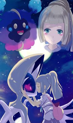 Lillie and nebby. Pokemon Moon