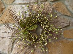 Bud Berry Wreath with Moss Butterfly Spring Wreath by SwagsByKari, $40.00