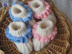 Set for twins.  baby slippers by Spillija on Etsy