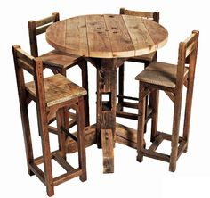 High Top Table And Chairs - VisualizeUs Bar Top Tables, Bar Table Sets, Patio Bar Set, High Tops, Chairs, Furniture, Diy Table, Table Settings, Home Furniture