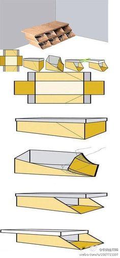 DIY shoe rack using unwanted shoe box