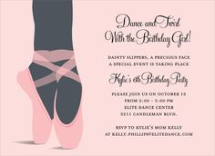 Toe Shoes Invitations by Noteworthy Collections - Invitation Box
