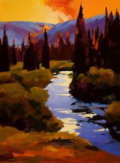 """""""Blackcomb Meadow,"""" by Mike Svob - 12x16"""