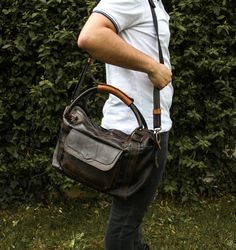 Leather Travel Bag / Overnight Bag / Handmade Leather Duffle Bag / Weekender / Carry on Bag / Luggage Bag / Black Duffel Bag / Gift for him by TransylvanianMonk on Etsy