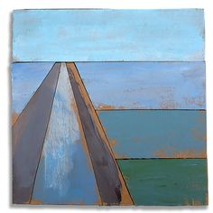 Hans Gerritsen — Karton_serie_01 - Abstract Dutch landscape painting on cardboard, Holland, Groningen, cardboard