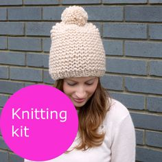 Knitting kit - pom pom hat | Miss Knit Nat