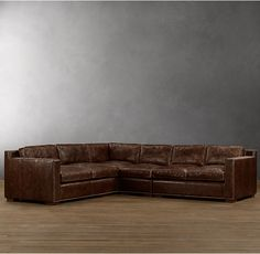 Collins Leather L-Sectional With Nailheads $11,000.00
