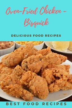 Oven-Fried Chicken - Bisquick This is out of my bisquick cookbook. This guarantees the fowl begins cooking at once and helps create a crispy, crackly skin that's even better than your takeout favored. Oven Fried Chicken Thighs, Baked Chicken Nuggets, Fried Chicken Breast, Oven Chicken, Chicken Meals, Bisquick Fried Chicken, Fried Chicken Recipes, Chicken Thigh Recipes, Kidney Friendly Foods