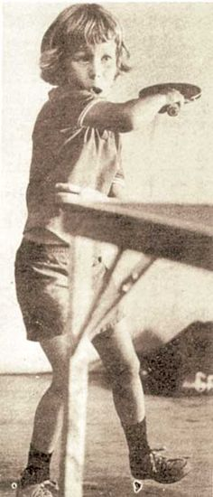 """Jan-Ove """"Evergreen"""" Waldner at a young age. #pingpong #tabletennis #greatestplayer"""