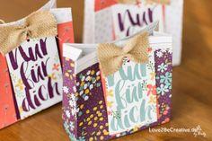 """Stempelnd durchs Jahr Blog Hop März 2016 - Mit meine Lieblings sale-a-Bration Produkte sind das Designerpapierset """"Wildblumenwiese"""" sowie das Stempelset """"Blumen für dich"""", da sie so vielfältig sind und sich mit wenig Aufwand tolle Projekte und Karten gestalten lassen. Internet, Stampin Up, Gift Wrapping, Blog, Gifts, Paper, Daily Journal, Stamping Up, Projects"""