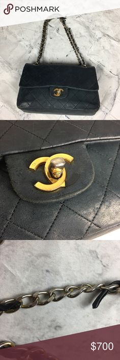 Vintage Chanel 2.55 lambskin leather needs tlc Authentic with car vintage Chanel 2.55 double flat I. Need of some work. This bag stil has life left and worth the time and effort to invest in. Make reasonable offers no trade unless you have a fabulous collection of NYC vintage coach in mint condition. More pics will be added check back soon. CHANEL Bags Shoulder Bags