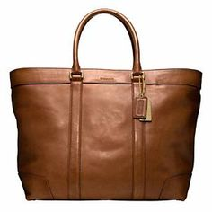 Coach - Bleecker Legacy Leather Wknd Tote Fawn