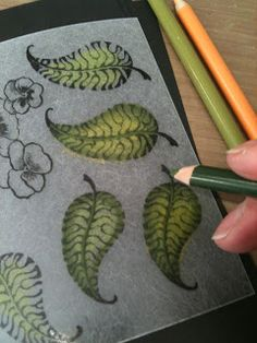 Shrink art using stamps and colored pencils to make sweet leaf charms!