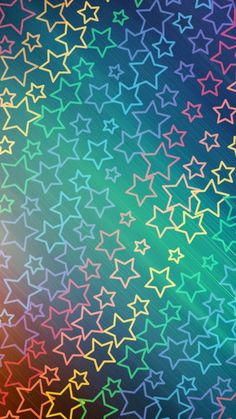 Pretty Phone Wallpaper, Rainbow Wallpaper, Star Wallpaper, Cellphone Wallpaper, Colorful Wallpaper, Screen Wallpaper, Pattern Wallpaper, Iphone Wallpaper, Cool Backgrounds For Iphone