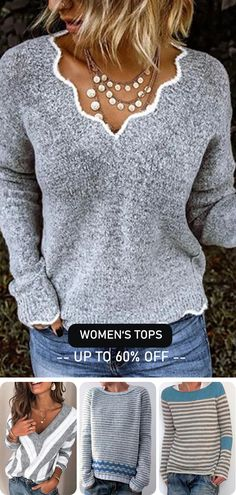 Casual women's sweaters hot now! Christmas & new year gift for yourself>> Shop now>> – trendy outfits - LastStepPin Look Fashion, Autumn Fashion, Fashion Outfits, Womens Fashion, Casual Sweaters, Sweaters For Women, Women's Sweaters, Pretty Outfits, Cute Outfits