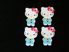 10 wooden Cat with Kitten buttons 15mm The Bead and Button Box