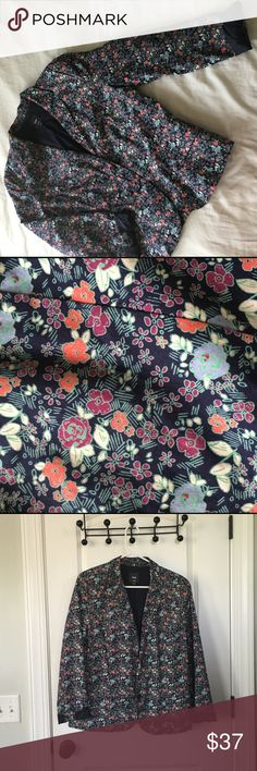 Floral Blazer This quirky floral blazer is great for fall or spring. It is lightweight, lined, with two buttons on the front. 100% cotton and machine washable. GAP Jackets & Coats Blazers