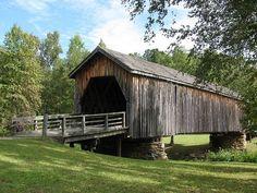 Beautiful Old Bridges | Old Covered Bridge Thomaston, Georgia by Rebecca Milby on Flickr (cc)